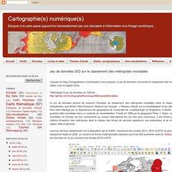 Jeu de données SIG sur le classement des métropoles mondiales