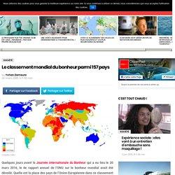 Le classement mondial du bonheur parmi 157 pays