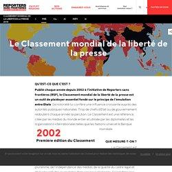 16. Classement mondial de la liberté de la presse