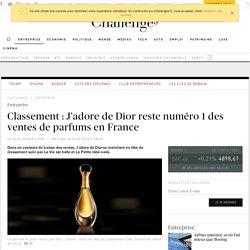 Classement : J'Adore de Dior reste numéro 1 des ventes de parfums en France
