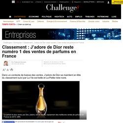 Classement : J'adore de Dior reste numéro 1 des ventes de parfums en France - 2 février 2014