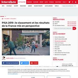 PISA 2019: le classement etles résultats de la France mis en perspective