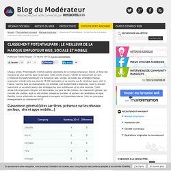 Classement Potentialpark : le meilleur de la marque employeur web, sociale et mobile