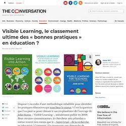 Visible Learning, le classement ultime des«bonnespratiques» enéducation?