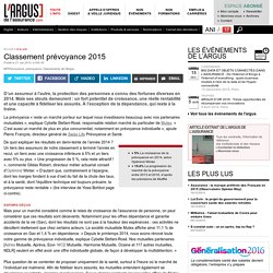 Classement prévoyance 2015
