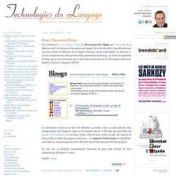 Blogs: Classement Bloogz
