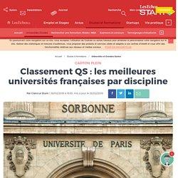 Classement QS : les meilleures universités françaises par discipline