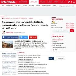 Classement des universités 2020: le palmarès des meilleures facs du monde et de France
