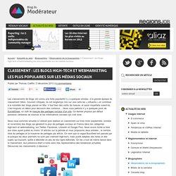 Classement : les blogs high-tech et webmarketing les plus populaires sur les médias sociaux