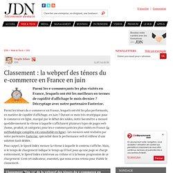 Classement : la webperf des ténors du e-commerce en France en juin