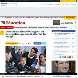 Du latin aux classes bilangues, un an de polémiques sur la réforme du collège