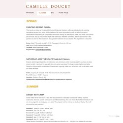 CLASSES - Camille Doucet