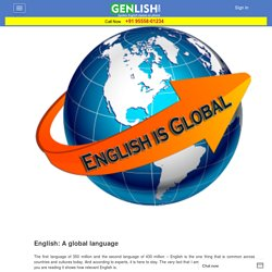 Spoken Classes in Chandigarh- Genlish