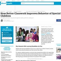 Better Classes Improve Behavior of Special Needs Kids