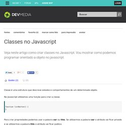 Classes no Javascript