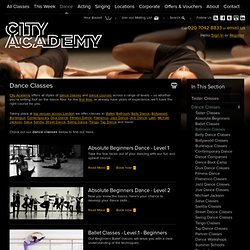Dance Classes, Dance Lessons & Dance Courses London