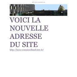 Cahier de textes de SVT Euro classes de 1ère 2012-2013 - VOICI LA NOUVELLE ADRESSE DU SITE