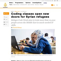 Coding classes open new doors for Syrian refugees - News from Al Jazeera