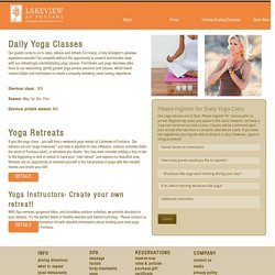 Yoga Classes and Retreats at Lakeview at Fontana
