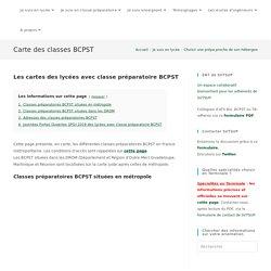 - Carte des classes BCPST Réussir son orientation