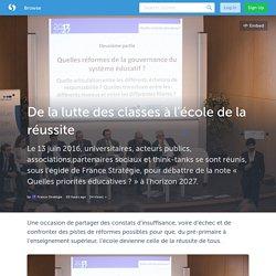 De la lutte des classes à l'école de la réussite (with images) · Strategie_Gouv