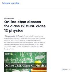 Online cbse classes for class 12