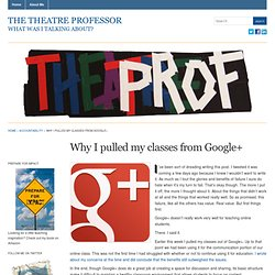 Why I pulled my classes from Google+