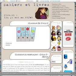 Classeur ZIL Cycle 2 - Cahiers et livres