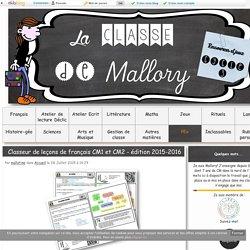 Classeur de leçons de français CM1 et CM2 - édition 2015-2016