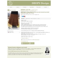 "DROPS Skirt in ""Classic Alpaca"" crochet from side to side with lace border along bottom edge. Size S to XXXL"