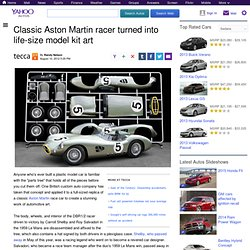 Classic Aston Martin racer turned into life-size model kit art