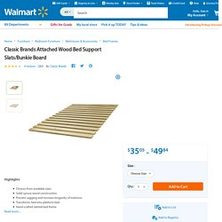 Classic Brands Attached Wood Bed Support Slats/Bunkie Board - Walmart.com