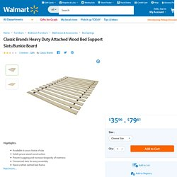 Classic Brands Heavy Duty Attached Wood Bed Support Slats/Bunkie Board - Walmart.com