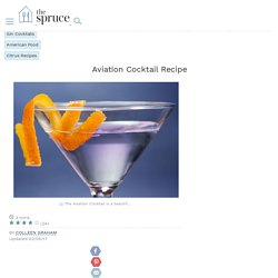 The Classic Aviation Cocktail Recipe