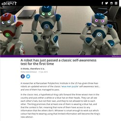 A robot has just passed a classic self-awareness test for the first time