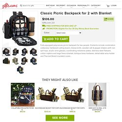 Classic Picnic Backpack for 2 with Blanket