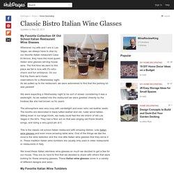 Classic Bistro Italian Wine Glasses
