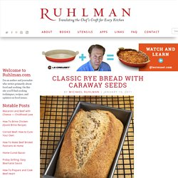 Classic Rye Bread with Caraway Seeds