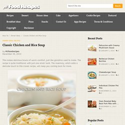 Classic Chicken and Rice Soup - All food Recipes