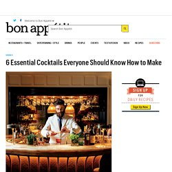 Classic Cocktail Recipes Everyone Should Know How to Make