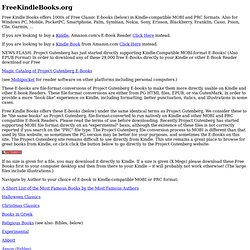 Free Kindle Books offers Free Classic E-Books in Kindle-compatib