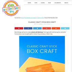 Classic Craft Stick Box Craft