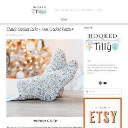 Classic Crochet Socks - Free Crochet Pattern — Hooked On Tilly