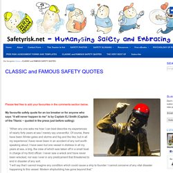 CLASSIC and FAMOUS SAFETY QUOTES