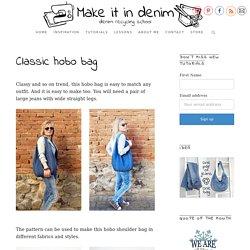 Classic hobo bag - Make it in denim