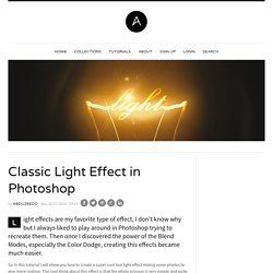 Classic Light Effect in Photoshop