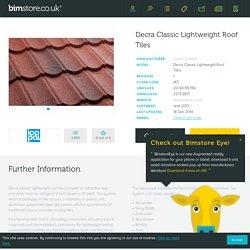 Decra Classic Lightweight Roof Tiles