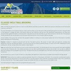 Classic Inca Trail Trek
