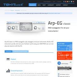 Arp-EG classic MIDI arpeggiator plug-in VST » Tek'it Audio