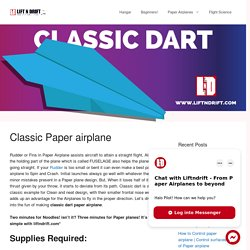 Learn how to make Dart Paper Airplane design!